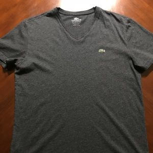 Authentic Lacoste Gray Shirt Size 5 M